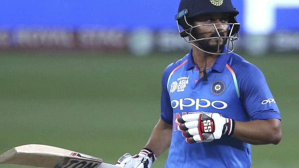 India's Kedar Jadhav limps to complete a run during the final one day international cricket match of Asia Cup between India and Bangladesh, in Dubai, United Arab Emirates. (AP)