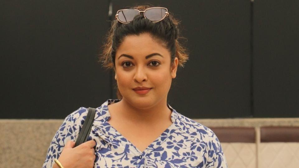 Tanushree Dutta during a media interaction to promote M2 campaign in Mumbai .