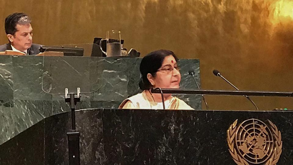 Sushma Swaraj,Pakistan,United Nations