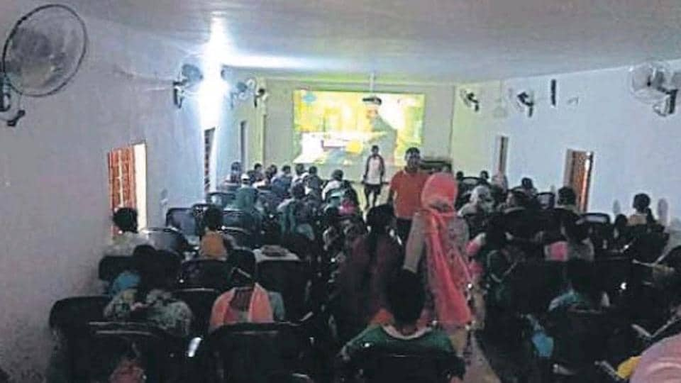 Tribals in Abhujmand experience big screen for the first time.