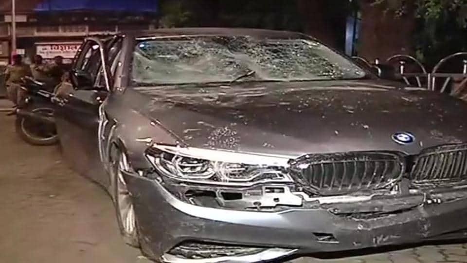 BMW accident Mumbai,Mumbai car accident,Mumbai accident