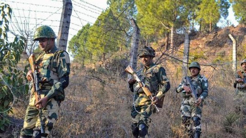 Border Security Force (BSF) jawans patrol near Line of Control (LoC) in Poonch. A BSF jawan allegedly committed suicide by shooting himself from his service rifle inside a camp in Rajouri district of Jammu and Kashmir, officials said on Sunday.