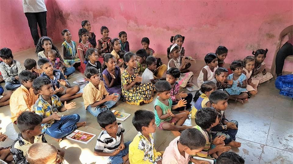 Nagindas Khandwala College started a programme to work with students at a Raigad school