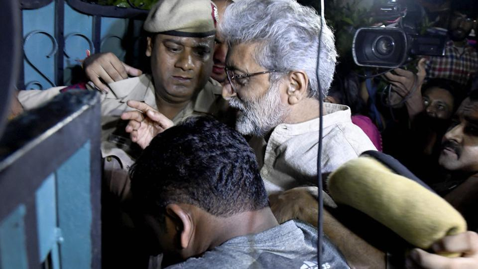 "The Delhi High Court on Monday cleared the way for human rights activist Gautam Navlakha to be released from house arrest in Delhi, saying his detention was ""untenable"" in law. Navlakha was among the five rights activists who were arrested by the Maharashtra police in country-wide raids on August 28 for their alleged links with a banned Maoist group. (PTI)"