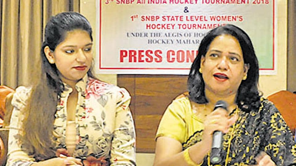 (From left) Rutuja Bhosle, director, SNBP Group and Vrushali Bhosle, president, SNBP Group at the press conference at Hotel Shantai in Pune on Thursday.