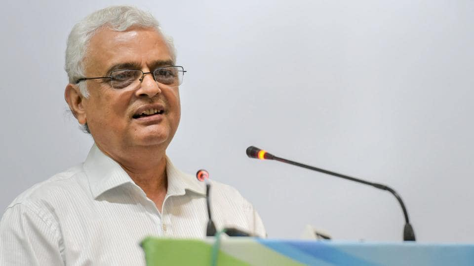 Chief Election Commissioner OP Rawat addresses a conference in New Delhi.