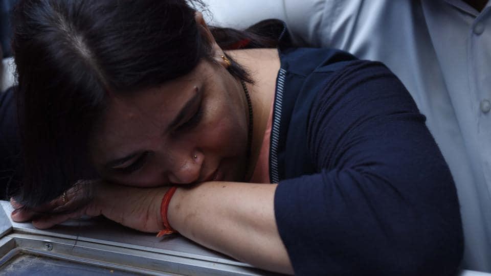 Kalpana Tiwari, wife of Apple India executive Vivek Tiwari.