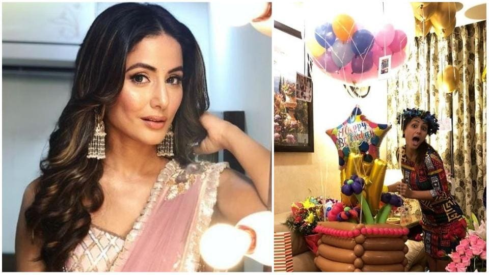 Hina Khan Celebrates Birthday With Vikas Gupta Priyank Sharma