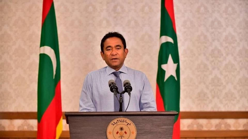 Image result for outgoing Maldives president Abdulla Yameen images