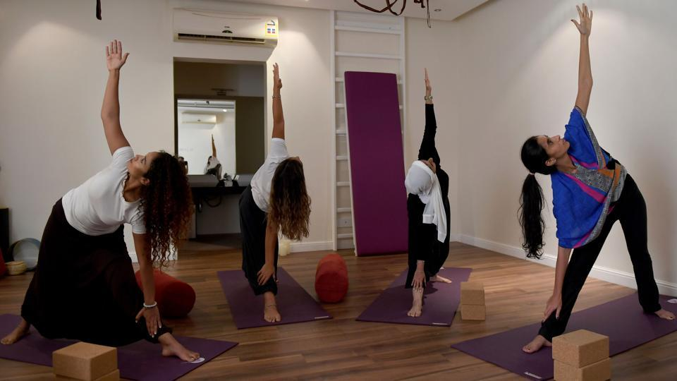 In just a few months since yoga's recognition, a new industry of yoga studios and instructors has sprouted in various Saudi cities. That includes Mecca and Medina, Islam's holiest cities, Marwaai said. Prince Mohammed, the de facto ruler, has sought to project a moderate image of the kingdom, long associated with a fundamentalist strain of Wahhabi Islam, with a new push for inter-religious exchange (Amer Hilabi / AFP)