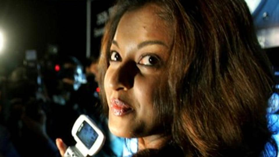 Tanushree Dutta poses at a product launch in 2006.