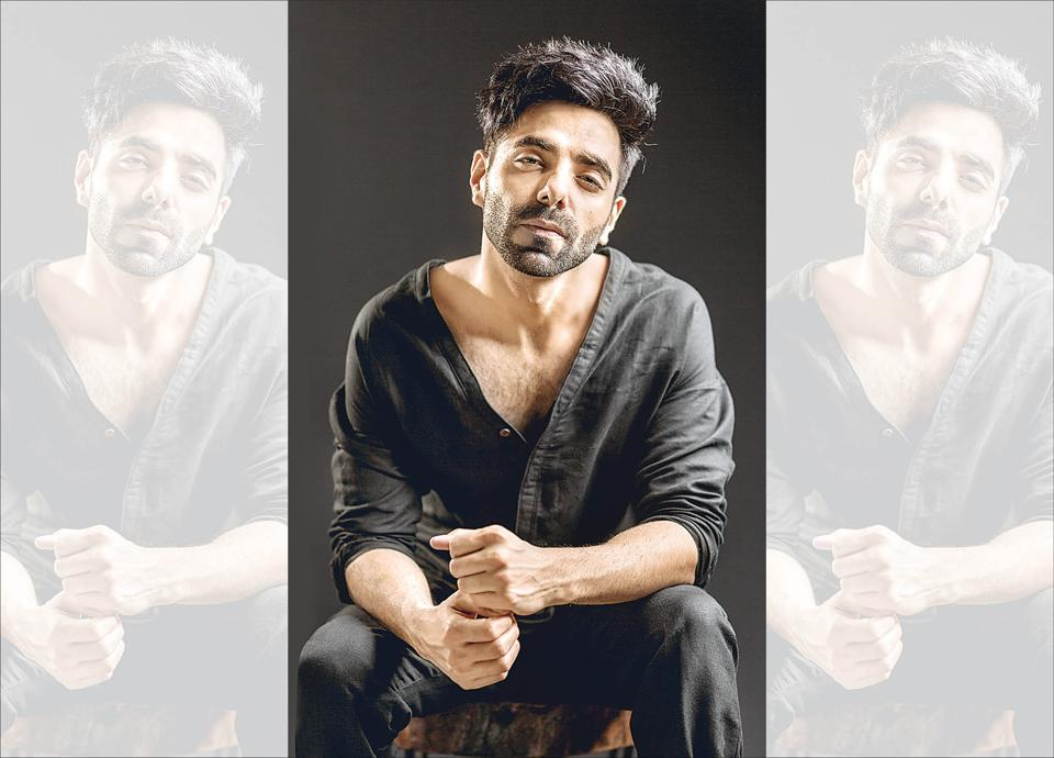 Aparshakti Khurana  says that the best part about having a sibling in the film industry is that he runs out of reality checks (Styling by J Samuel; make-up by  Mahesh J Zende; hair by Irfan of Team Hakim's Aalim. Outfit, Seba Anthony; shoes, Paul Smith)