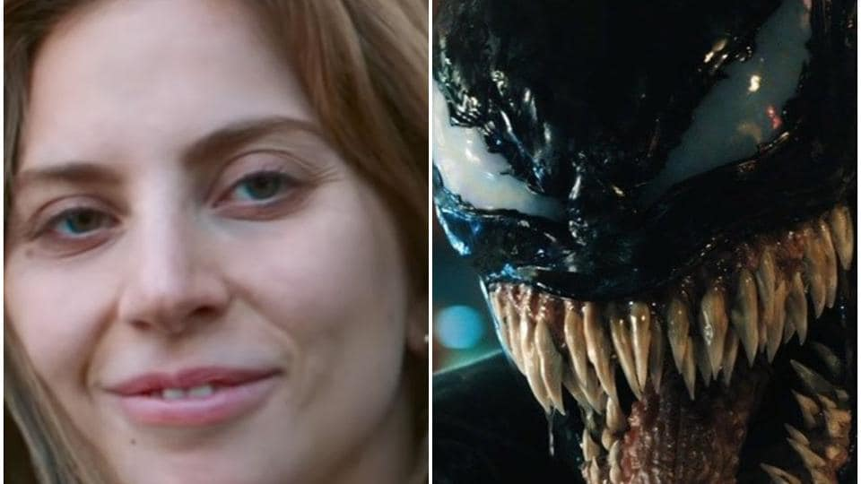 Lady Gaga's Little Monsters are chomping into Tom Hardy's Venom.