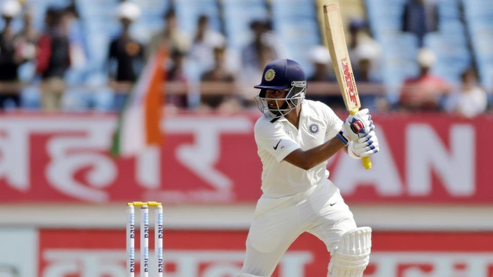 Prithvi Shaw bats during the first day of the first Test match between India and West Indies. (AP)