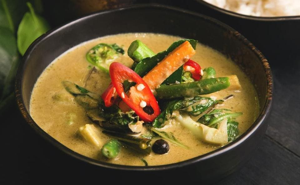 A Thai curry has three elements that define it: first the ingredients in the paste, second the way it is cooked and seasoned and third, the ingredients in the curry