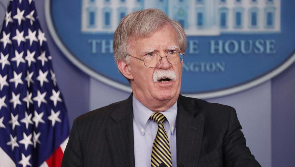 US National Security Advisor John Bolton