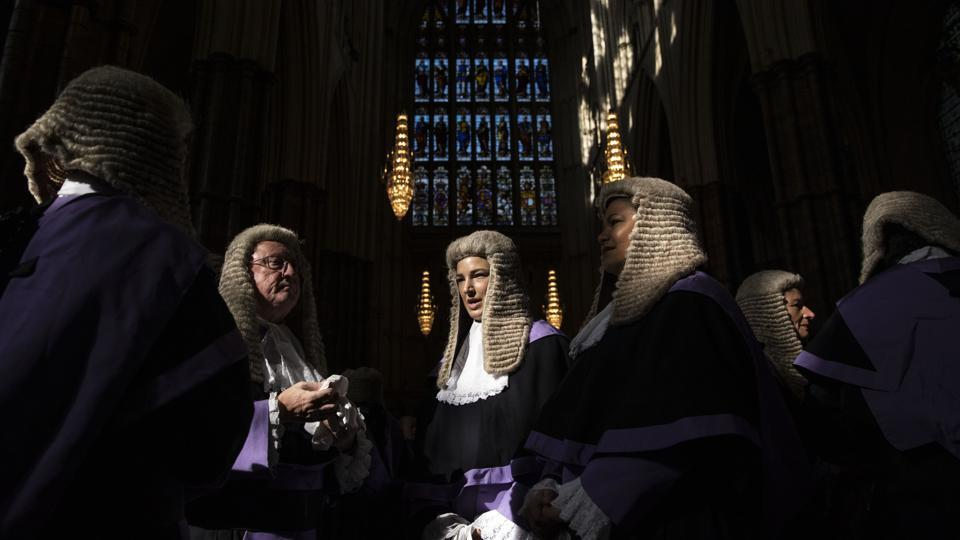 Circuit Court Judges gather at Westminster Abbey ahead of the annual service to mark the start of the legal year, in London, England. (Dan Kitwood / Getty Images)