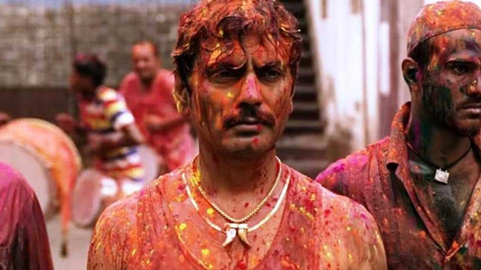 Nawazuddin Siddiqui in Sacred Games.The show was Netflix's first Indian original and was a hit among critics and audiences.