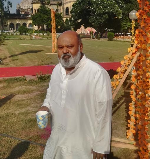 Saurabh Shukla was in Lucknow to wrap up his part during the shooting of 'Family of Thakurganj'.