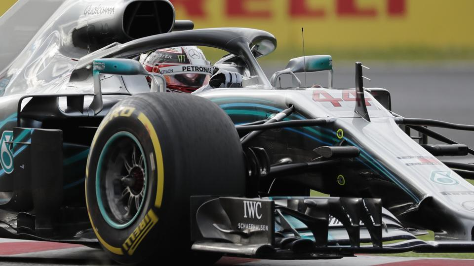 Mercedes' Lewis Hamilton during qualifying session at the Japan GP.