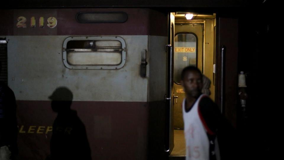 """Today you can't even buy food from the train and all the coaches are filthy, with no water and the lights are not working,"" said one passenger who declined to give his name. (Siphiwe Sibeko / REUTERS)"