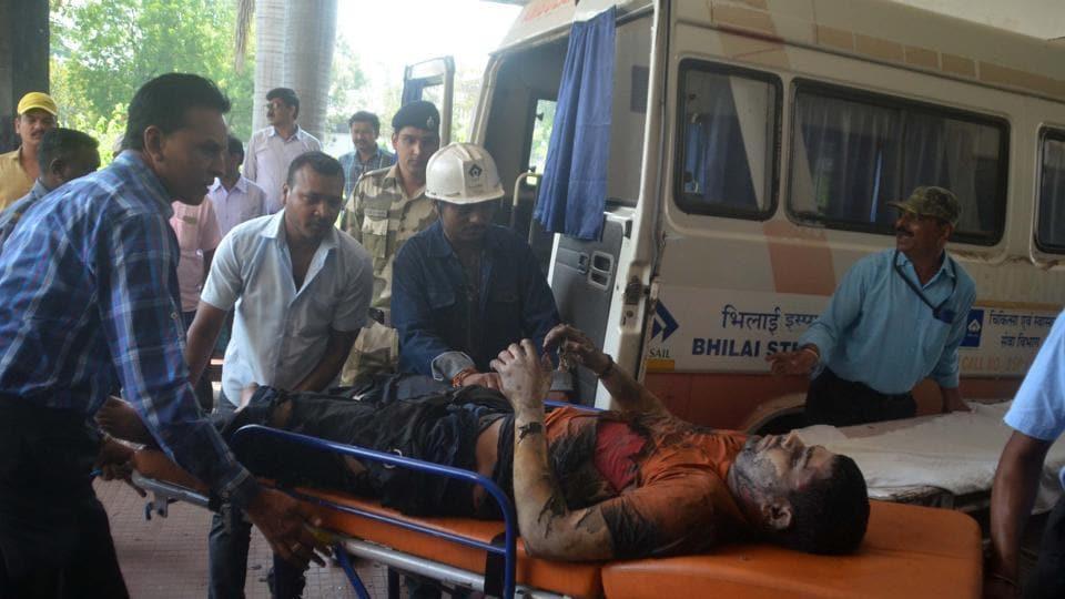 bhilai steel plant blast,blast at bhilai steel plant,SAIL