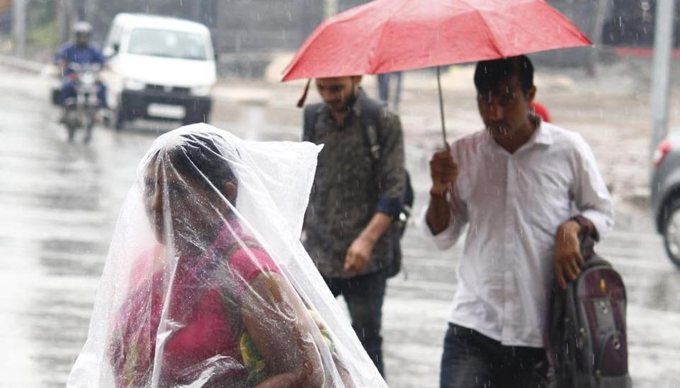 Several parts of Odisha and Andhra Pradesh witnessed rains due to Cyclone Titli.