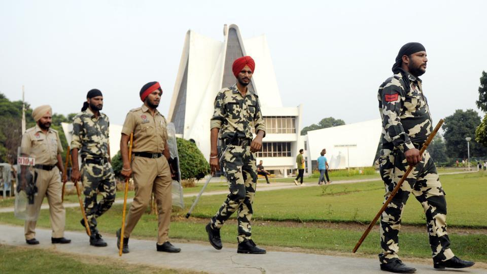 Security arrangements were beefed up at Punjabi University in Patiala.