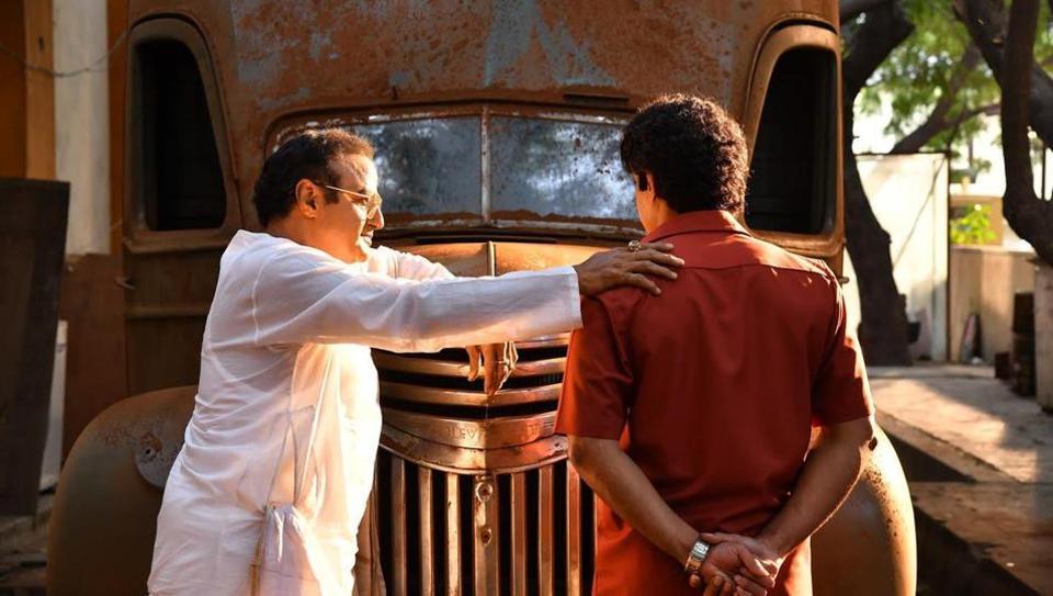 Nandamuri Balakrishna will portray his father NTR, while Kalyan Ram will play his father Harikrishna.