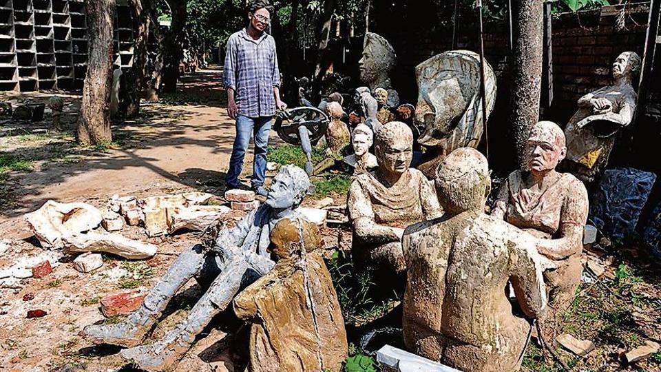 Sculptures,Chandigarh,Chandigarh Arts college
