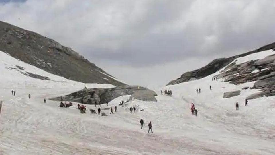 snowfall at Rohtang,Lahaul and Spiti,Himachal Pradesh