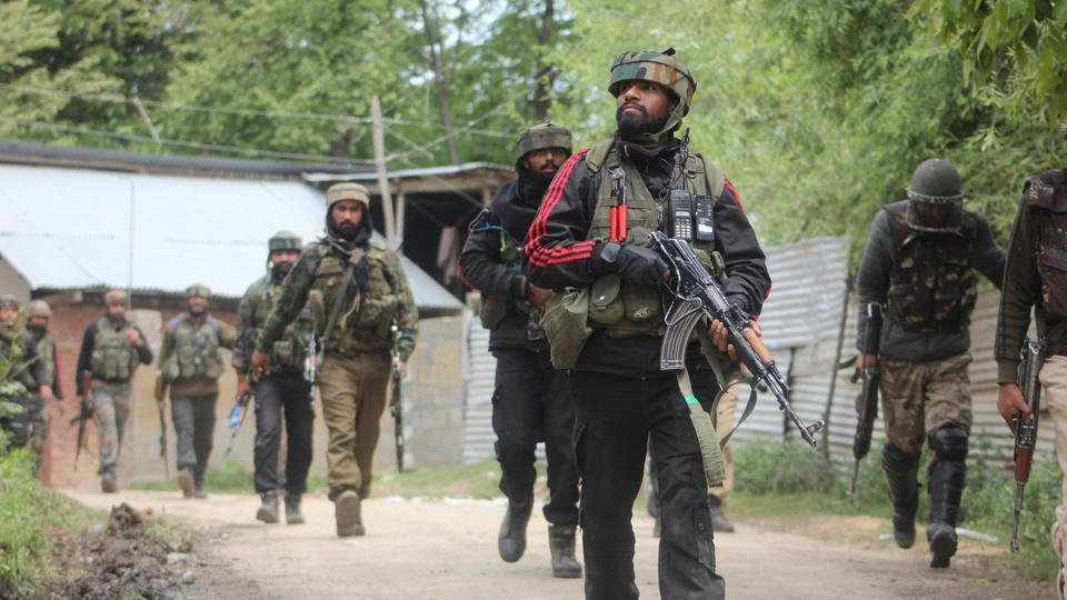 Officials on Thursday said that two Hizbul Mujahideen militants, including PhD scholar-turned-terrorist Manan Bashir Wani, were killed during an encounter with security forces at Handwara in north Kashmir. Wani had joined militancy in January 2018. (HT File Photo)