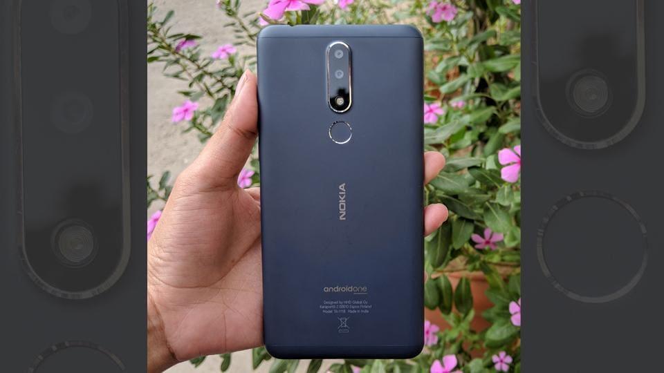 Nokia 3.1 Plus has an alumnium body with a matte finish.