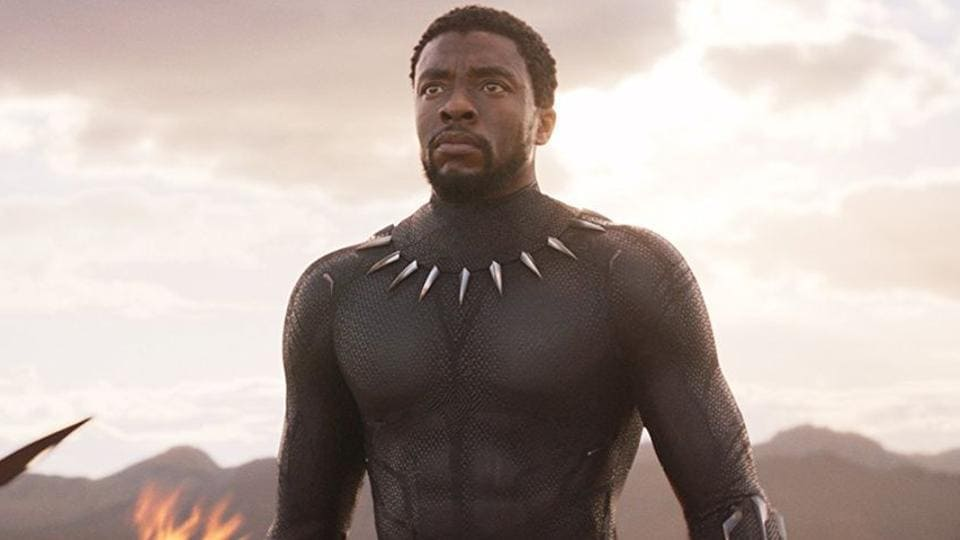 Chadwick Boseman in a still from Black Panther.