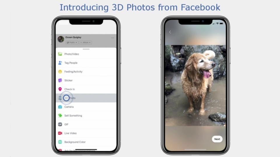 Facebook turns iPhone bokeh images into 3D Photos