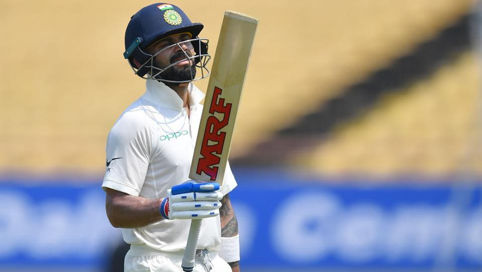 On Friday, Indian cricket captain Virat Kohli, who struck 139 in a massive win in the first Test against West Indies, consolidated his position at the top of the Test rankings, moving within one point of his highest rating point of 937. Kohli had achieved his highest rating after the Southampton Test against England earlier this year. (INDRANIL MUKHERJEE / AFP File)