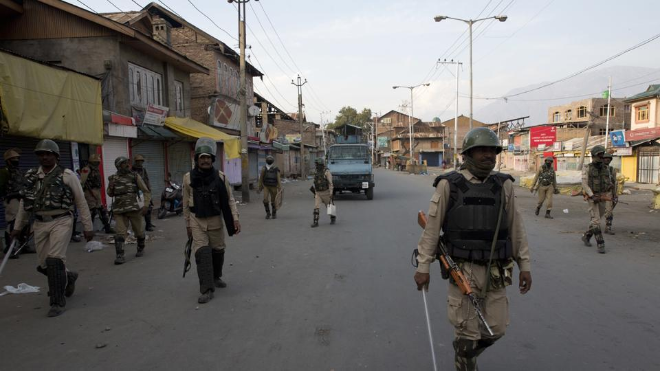 Shops, public transport, businesses and educational institutions remained closed, skeletal private transport though moved in Srinagar city roads.