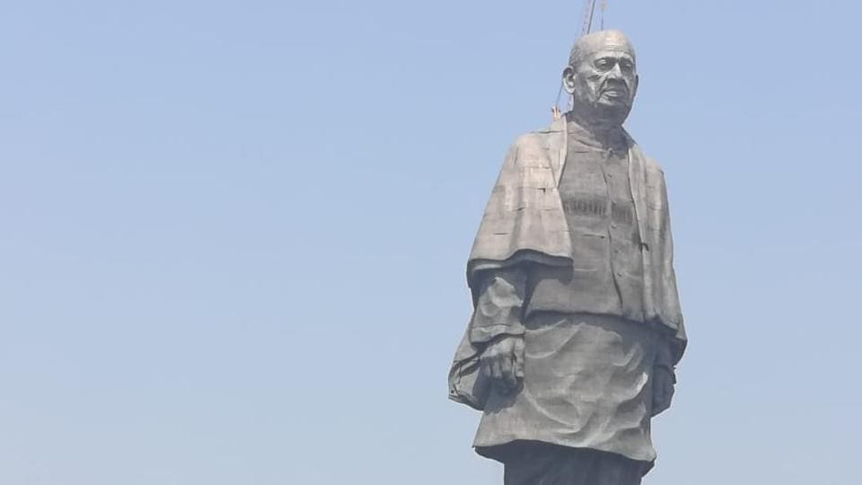 The Statue of Unity near Sardar Sarovar Dam at Kevadiya Colony in Gujarat