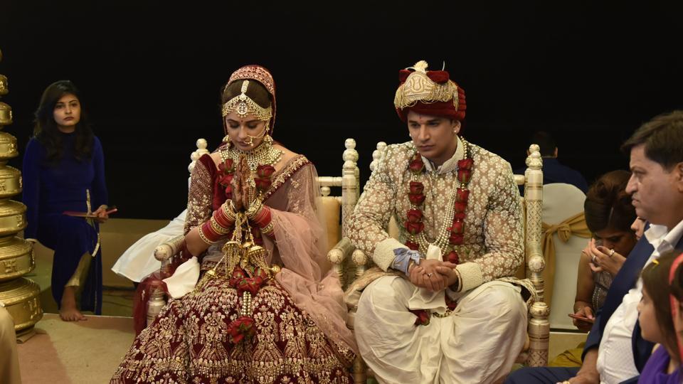 Prince Narula,Yuvika Chaudhary,Prince Yuvika Wedding