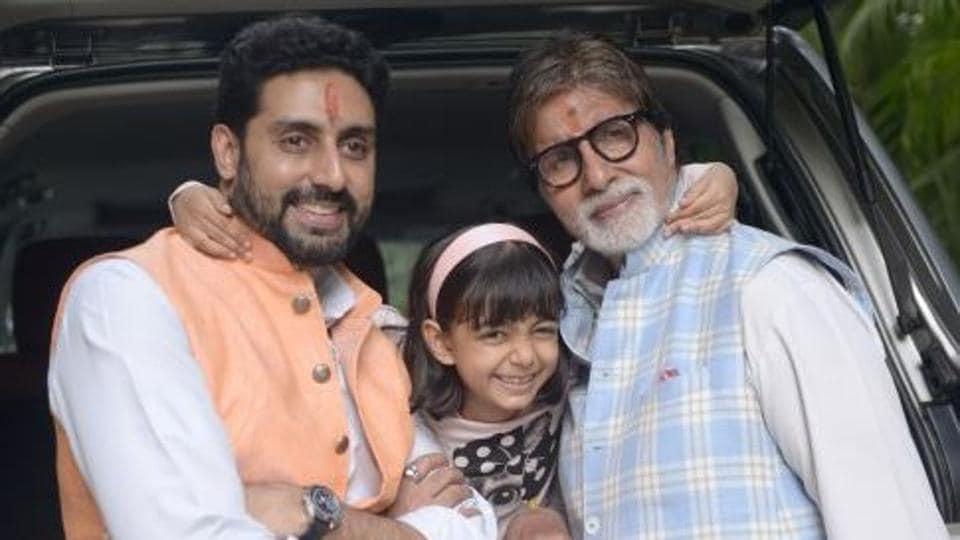 Amitabh Bachchan,Abhishek Bachchan,Aaradhya Bachchan