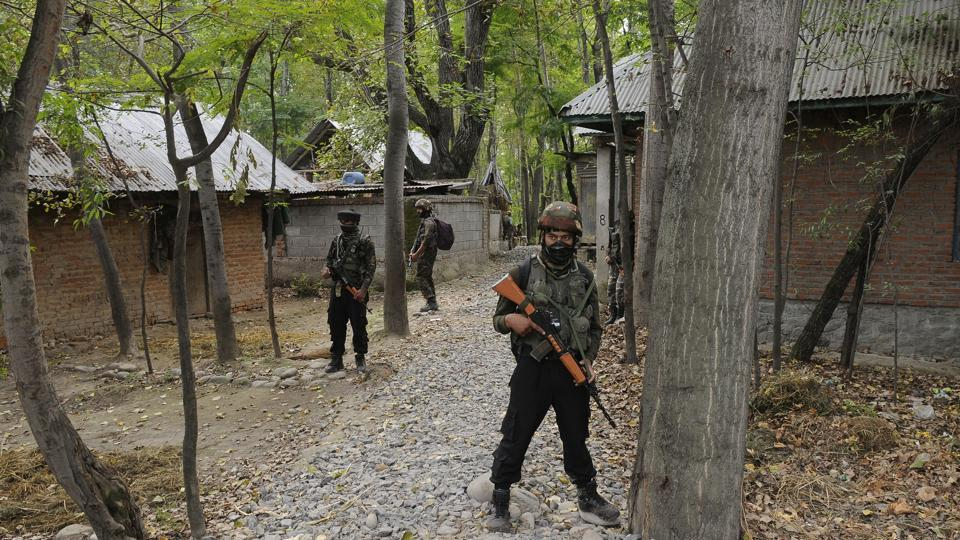 Pulwama,Jammu and Kashmir,Encounter in Kashmir