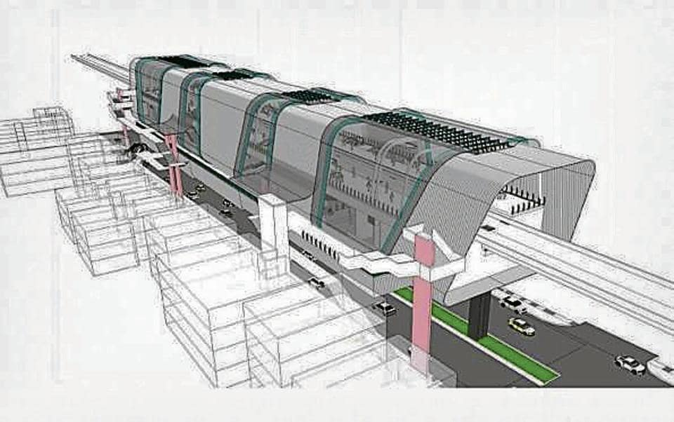 Concept design of the metro station which will come up near Pune municipal corporation building.