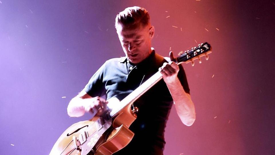 Bryan Adams performs at a concert in Gurugram on October 14, 2018.