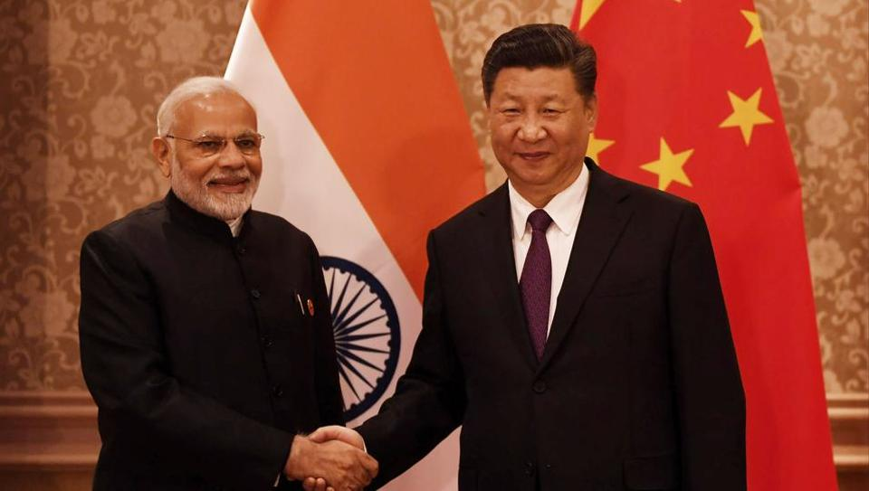 Prime Minister Narendra Modi with Chinese President Xi Jinping at the 10th BRICS summit in Johannesburg on July 26, 2018.