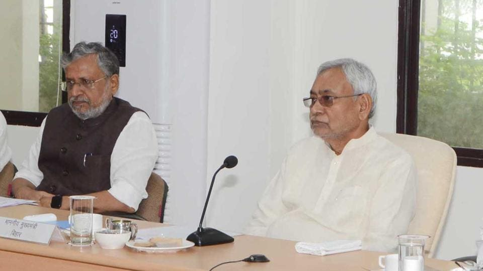 File photo of Bihar chief minister Nitish Kumar during an official meeting.  The state government has declared over 200 blocks in 23 districts as drought-affected.