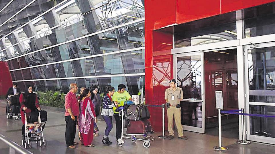 New Delhi, India – March 03: CISF security personnel during the security check at IGI Airport T3 in New Delhi. HT Photo/ Ravi Choudhary(HT File Photo)