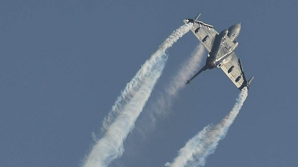 Indian Air Force's Tejas Light Combat Aircraft (LCA) flies-past during the 86th Air Force Day Parade 2018 at Air Force Station, Hindon on Oct 8, 2018. (AP File Photo/Representative photo)