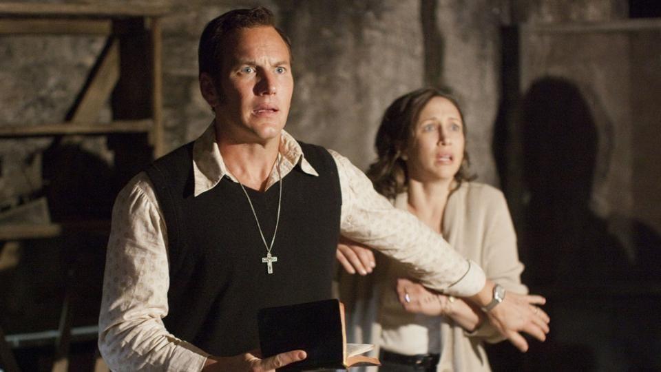 Patrick Wilson as Ed Warren and Vera Farmiga as Lorraine Warren in New Line Cinema's supernatural thriller The Conjuring.