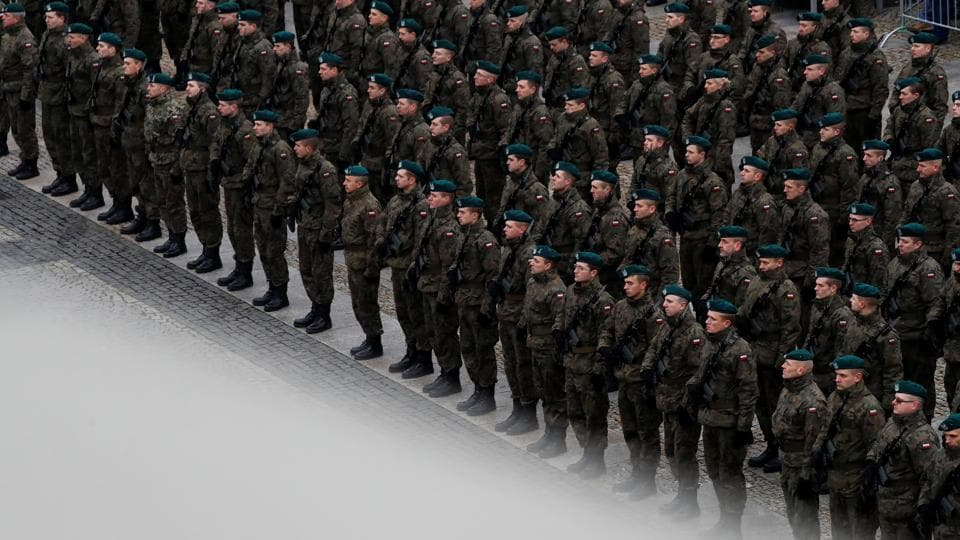 As Poland prepares to mark the centenary of its independence this November, thousands of Poles are training in all weathers for a part-time force meant to help defend the eastern European state from invasion. More than 12,000 volunteers have joined the Territorial Defence Forces (WOT), as well as more than 2,000 professional soldiers. (Kacper Pempel / REUTERS)