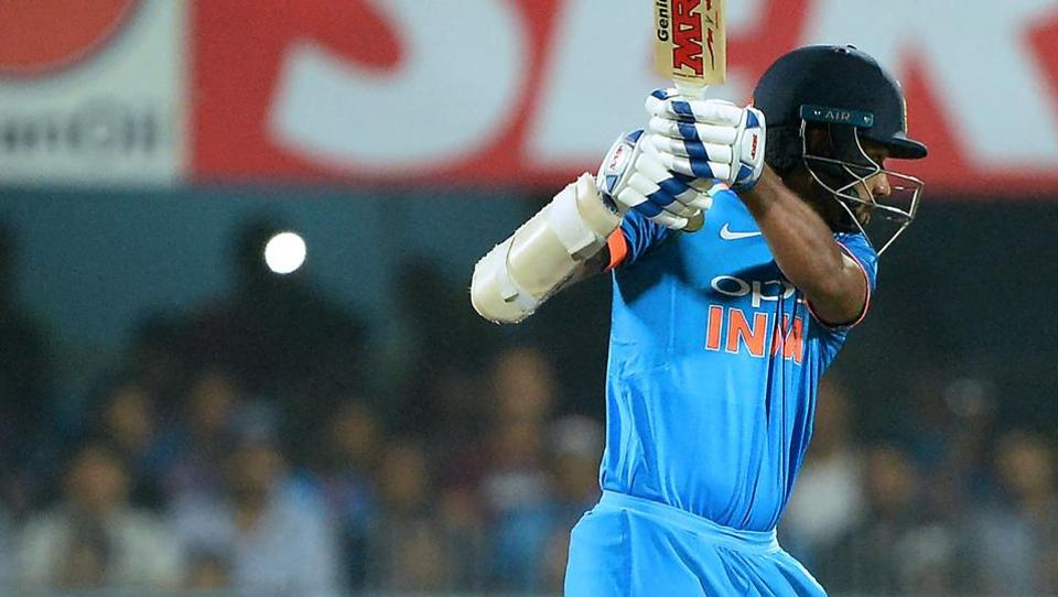 Indian batsman Shikhar Dhawan is bowled out during the first one day international (ODI) cricket match. (AFP)